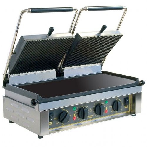 Roller Grill MAJESTIC Twin - Ribbed Top & Flat Base Plates Contact Grills